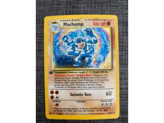 Pokemon kaarten Machamp 1st edition